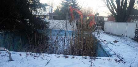 Démolition piscine creusée à St-Hubert